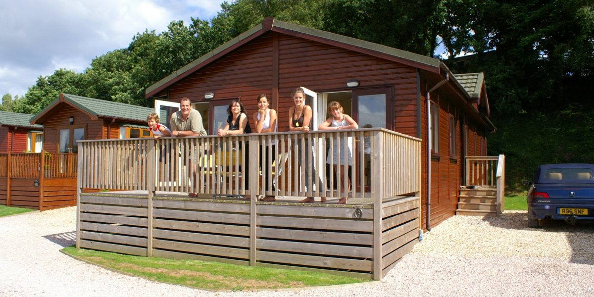 holiday lodges with hot tubs at Hazelwood