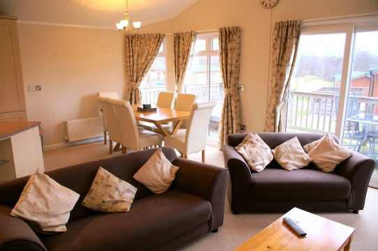 beautiful interiors in our holiday lodges for sale in Devon